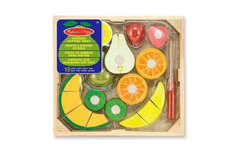 Melissa and Doug Wooden Cutting Fruit Crate