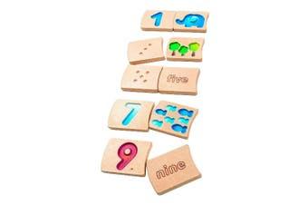 Plan Toys Number 1-10 Wooden Blocks