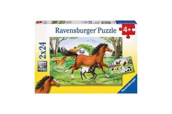 Ravensburger World of Horses 2 x 24-Piece Puzzle