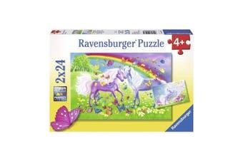 Ravensburger Rainbow Horses 2 x 24-Piece Puzzle