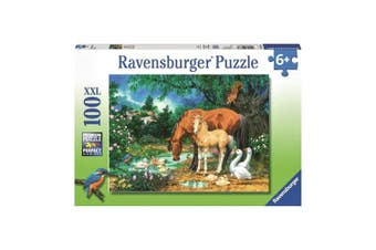 Ravensburger Ponies at the Pond 100-Piece Puzzle