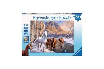 Ravensburger Winter Horses Puzzle 200-Piece Puzzle