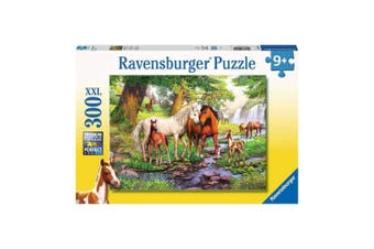 Ravensburger Horses by the Stream 300-Piece XXL Puzzle
