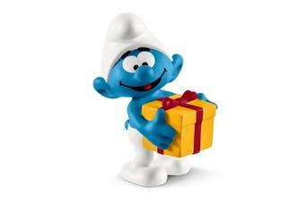 Schleich Smurf with Present Toy Figure