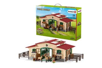Schleich Farm World Stable with Horses and Accessories