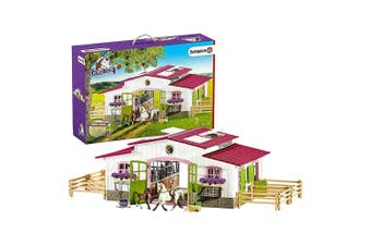 Schleich Horse Club Riding Centre with Rider and Horses Set