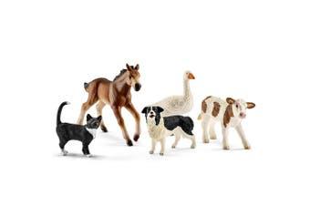 Schleich Assorted Farm World Animal Toy Figure Set