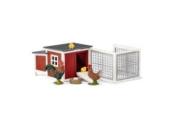 Schleich Farm World Chicken Coop Set