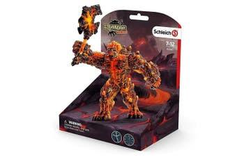Schleich Eldrador Lava Golem with Weapon Toy Figure