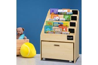 Five Tier Kids Wooden Bookshelf