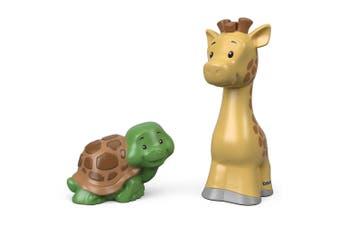 Little People Animal Figure 2 Pack - Giraffe and Turtle
