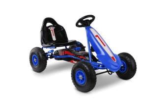 Kids Pedal Go Kart Car Ride On Racing Bike in Blue