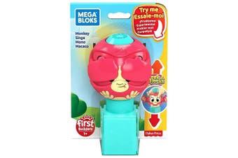 Mega Bloks Peek A Blocks Monkey Toy