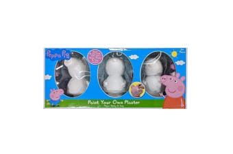 Peppa Pig Paint Your Own Plaster 3-Pack Set
