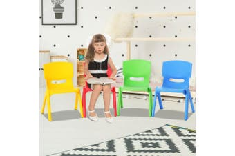 Kids Plastic Chairs - Set of 4 - Multicolour
