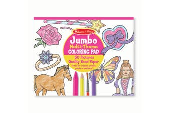 Melissa and Doug Jumbo Colouring Pad - Pink