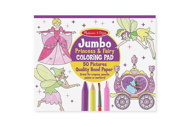 Melissa and Doug Jumbo Colouring Pad - Princesses and Fairies