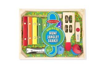 Melissa and Doug Musical Instrument Band-in-a-Box  Hum! Jangle! Shake!