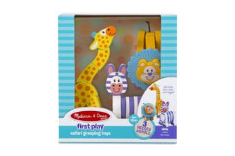 Melissa and Doug First Play Wooden Safari Grasping Toys