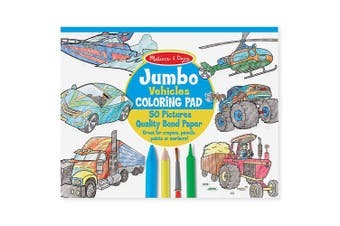 Melissa and Doug Jumbo Colouring Pad - Vehicles