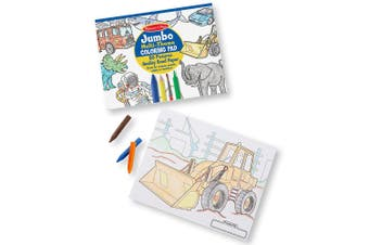 Melissa and Doug Jumbo 50-Page Kids' Coloring Pad - Space, Sharks, Sports, and More