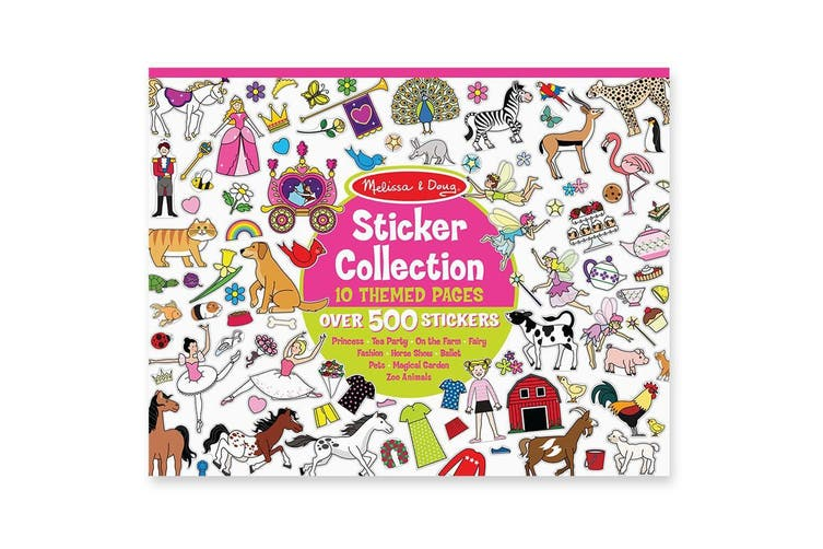 Melissa and Doug Sticker Collection - 500 Stickers in Pink Themes