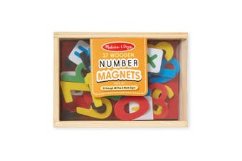 Melissa and Doug Wooden Number Magnets - Box of 37
