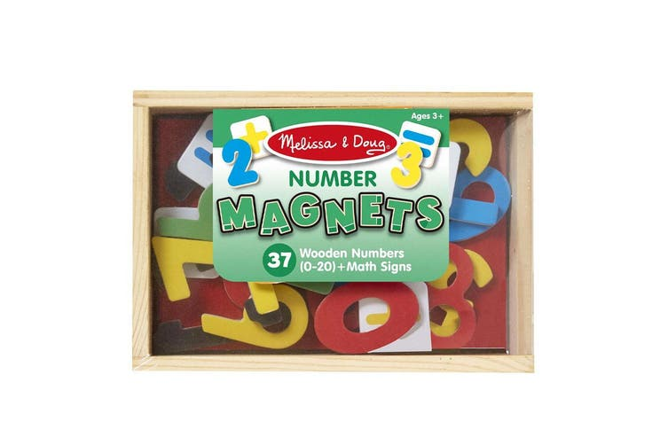 Melissa and Doug 37 Magnetic Wooden Numbers