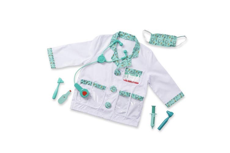 Melissa and Doug Doctor Dress Up Kids Costume