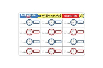 Melissa and Doug Telling Time Write-A-Mat