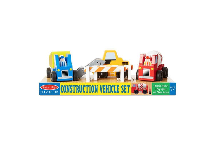 Melissa and Doug Wooden Construction Vehicle Set