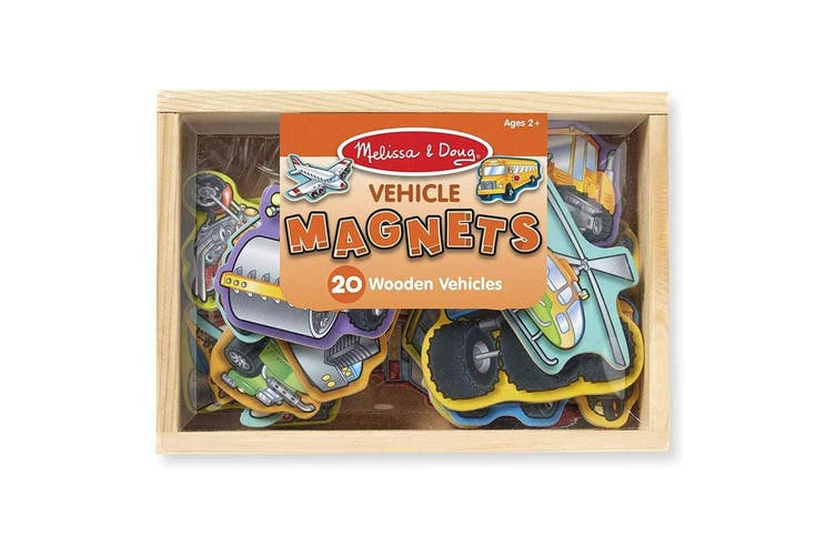 Melissa and Doug 20 Wooden Vehicles Magnets