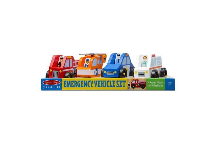 Melissa and Doug Wooden Emergency Vehicle Set