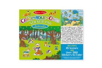Melissa and Doug Colour Your Own Sticker Pad Animals