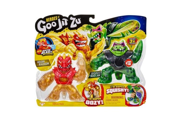 Heroes Of Goo Jit Zu S2 Versus Pack Blazagon Vs Rock Jaw