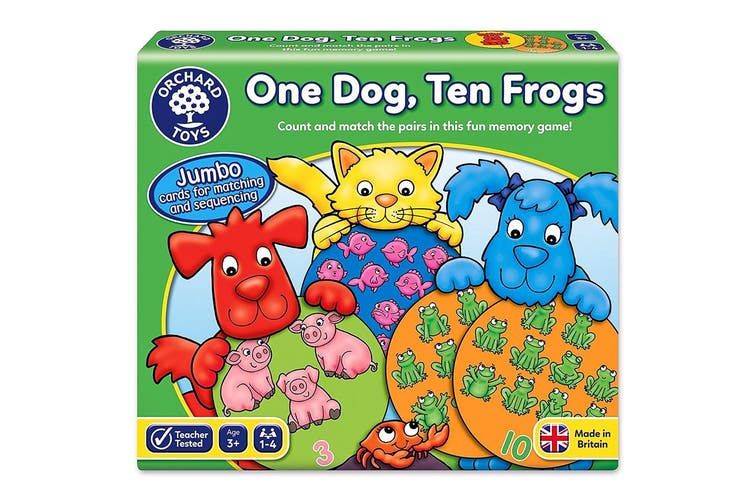 Orchard Toys One Dog Ten Frogs Game