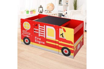 Fire Engine Kids Table and Chair Set