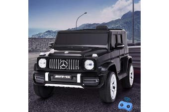 Mercedes-Benz G63 Inspired Kids Electric Ride On Car in Black - Twin 60W Motor