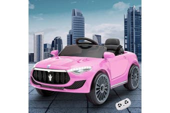 Kids Maserati Inspired Electric Ride On Car in Pink