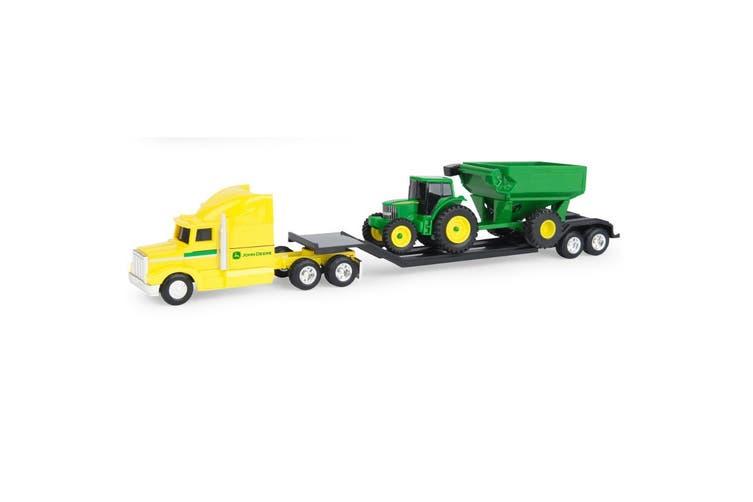 John Deere Big Farm Semi with Tractor and Cart - 1:64