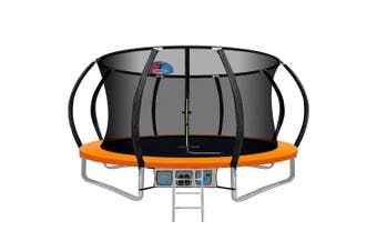 Everfit 12FT Round Spring Trampoline with Basketball Hoop and Orange Pad