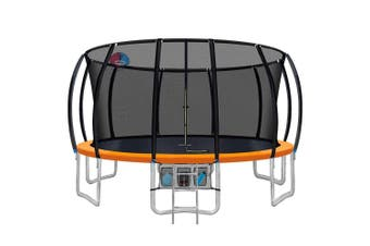 Everfit 16FT Round Spring Trampoline with Basketball Hoop and Orange Pad