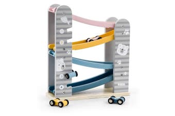Polar Bear Wooden Car Slider Playset