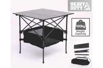 TRA 70cm Black Portable Folding Compact Camping Picnic Table