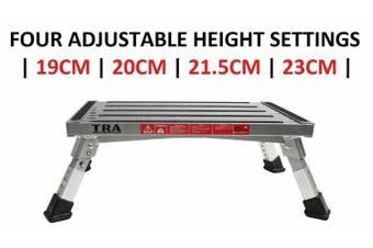 TRA Adjustable Height Single folding portable caravan camping step stool