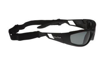 Ugly Fish Force Black Frame Foam Back Safety Specs - Smoke x 12
