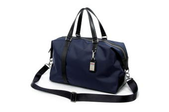 Bopai Luxury Business Style Leather & Microfibre Duffel Bag Waterproof Luggage Bag Crossbody Travel Bag B1732 Blue