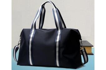 Bopai Luxury Business Style Leather & Microfibre Duffel Bag Waterproof Luggage Bag Crossbody Travel Bag B4041 Blue