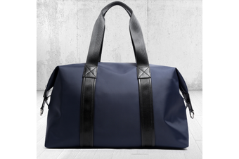 Bopai Luxury Business Style Leather & Microfibre Duffel Bag Waterproof Luggage Bag Crossbody Travel Bag B5432 Blue