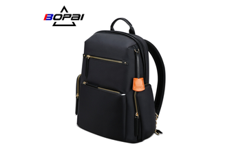"BOPAI Luxury Style waterproof Leather & Microfibre Women's Business Backpack and Easy Daypack 14"" Laptop Backpack B0121"